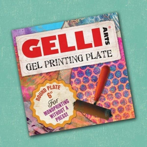 "Gel Printing Plates - 6"" Round"