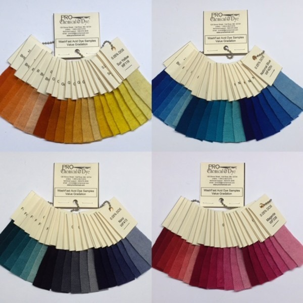 Washfast Wool Swatch Sets Pro Chemical Amp Dye
