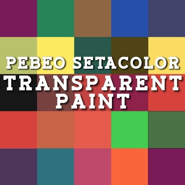 PEBEO Setacolor Light Fabrics Transparent Paints