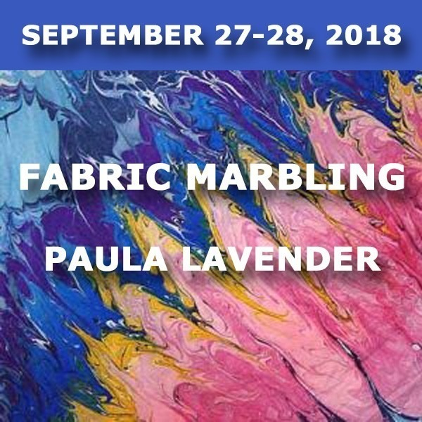 Fabric Marbling | Paula Lavender - September 27-28, 2018