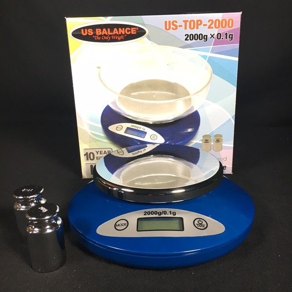 Deluxe Digital Tabletop Scale | US Balance - 2000 g. x 0.1 g.