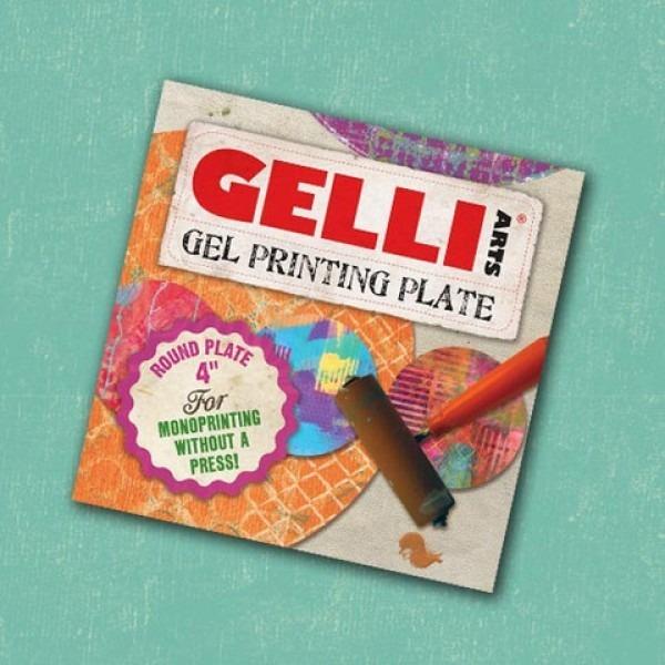 "Gel Printing Plates - 4"" Round"