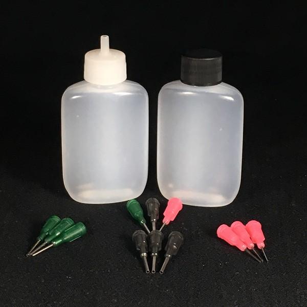 Applicator Bottle, Storage Caps & Metal Tips