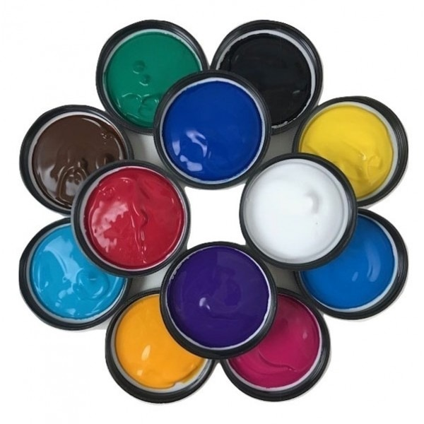 12 Pack Painters Palette - PROfab Transparent Paints