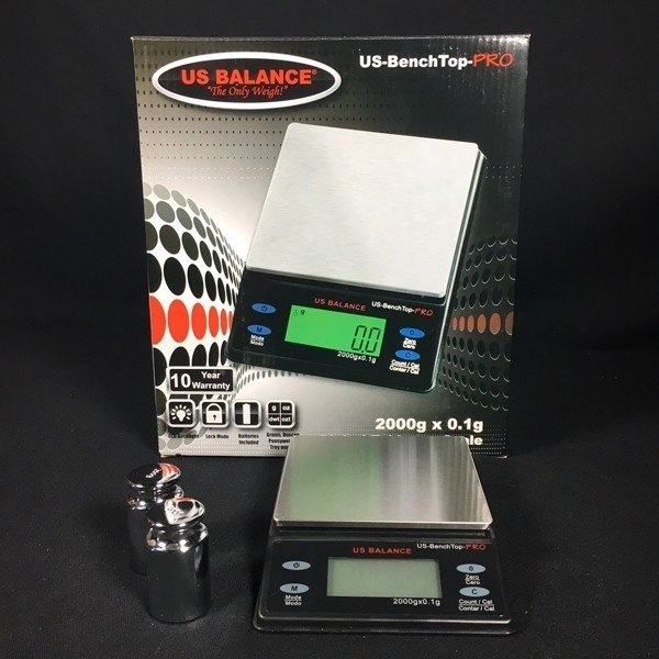 Digital Tabletop Scale | US-Benchtop-PRO - 2000 g. x 0.1 g.