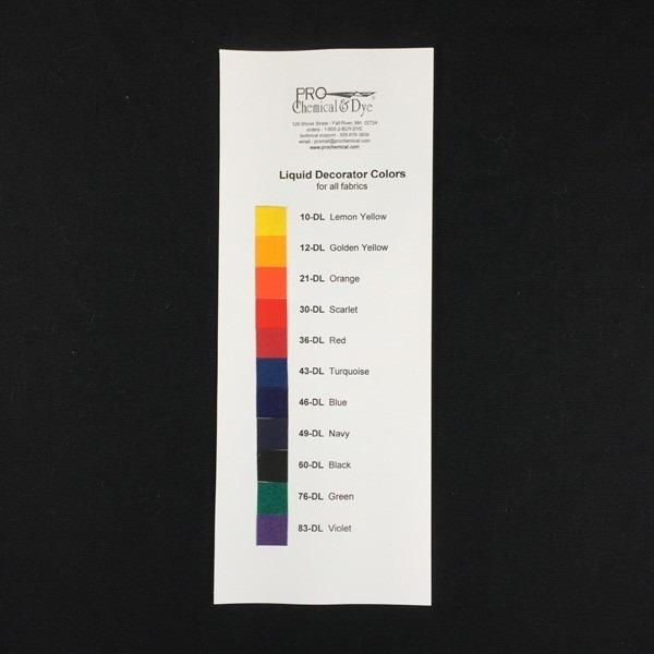 Liquid Decorator Color Card