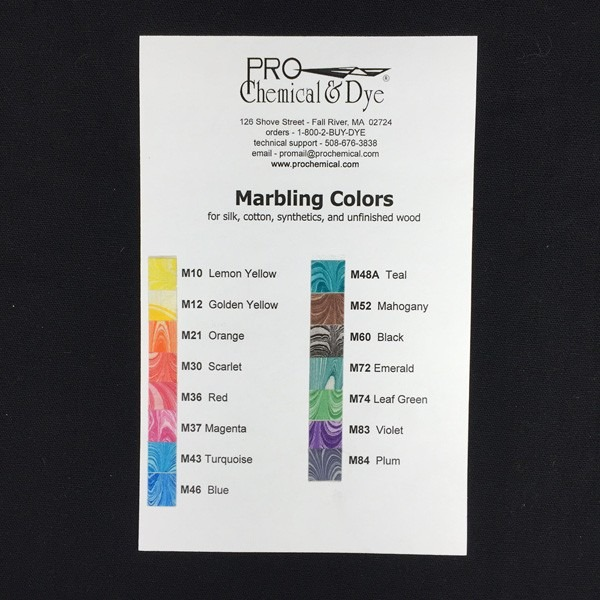 Marbling Color Card