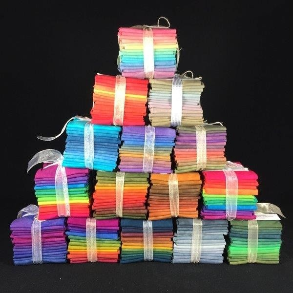 Hand Dyed Gradation Fabric Bundles