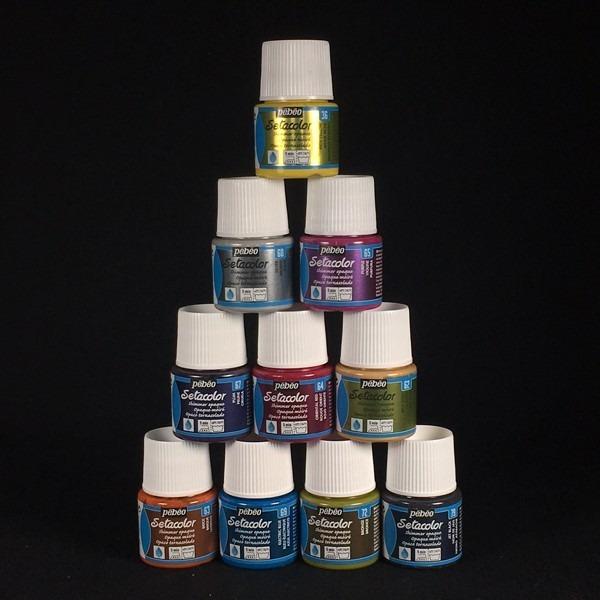 Pebeo Setacolor Shimmer 10 pack
